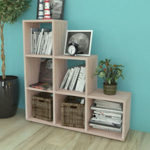 6 Compartment Wooden Display Unit - Oak