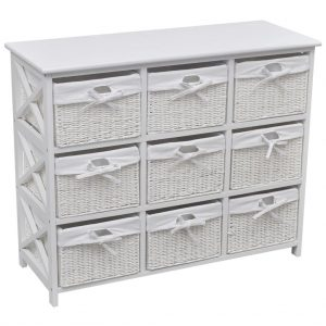 9 Basket Storage Cabinet - White