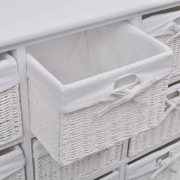 9 Basket Storage Cabinet – White