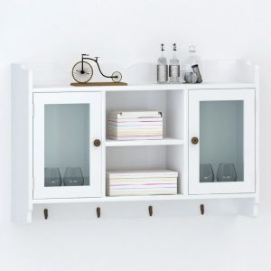 Entryway Wall Cabinet Display - White