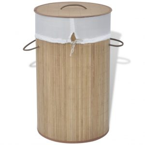 Round Laundry Bin - Natural