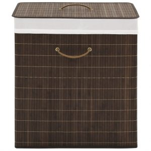 Rectangular Laundry Bin - Dark Brown