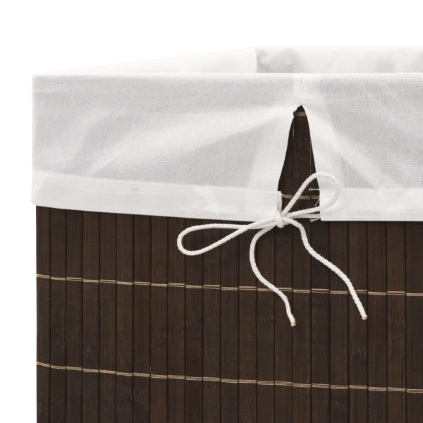 Rectangular Laundry Bin – Dark Brown