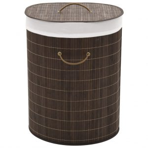 Oval Laundry Bin - Dark Brown