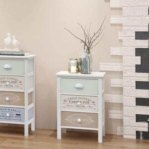 3 Drawer Wooden Storage Cabinet