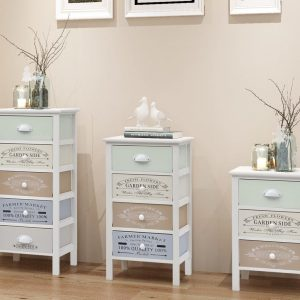 4 Drawer Wooden Storage Cabinet