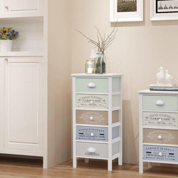 5 Drawer Wooden Storage Cabinet