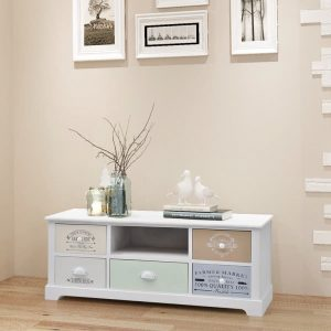 White Wooden TV Cabinet