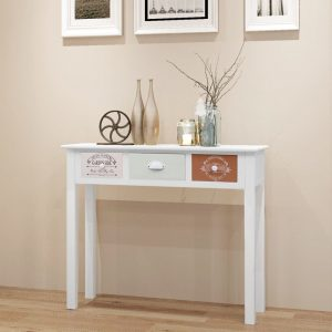 Wooden Console Table - White