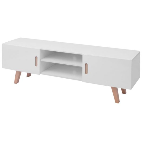 High Gloss TV Stand - White