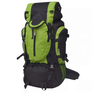 Large Hiking Backpack - Black and Green