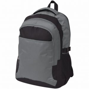 School Backpack - Black and Grey
