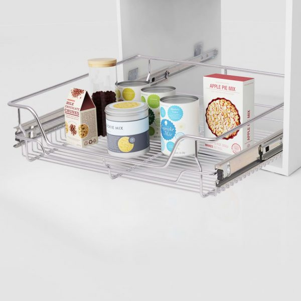 Pull-Out Wire Basket Drawers - 600mm