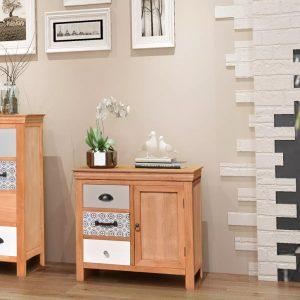 Sideboard Solid Wood Eucalyptus
