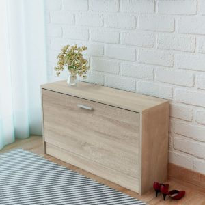 Shoe Storage Bench - Oak
