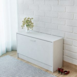 Shoe Storage Bench - White