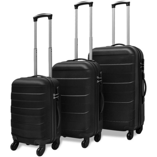 Three Piece Hard case Trolley Set - Black