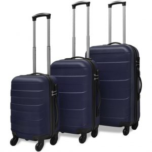 Three Piece Hard case Trolley Set - Blue