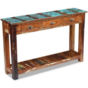 Console Table - Solid Reclaimed Wood