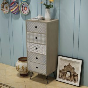 Side Cabinet 5 Drawers - Grey