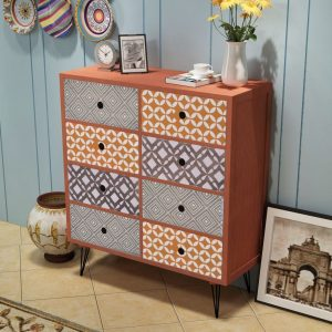Sideboard 8 Drawers - Brown