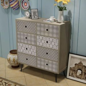 Sideboard 8 Drawers - Grey