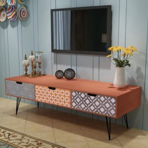 TV Cabinet with 3 Drawers - Brown