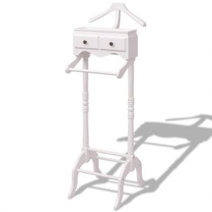 Clothing Rack with Cabinet - White