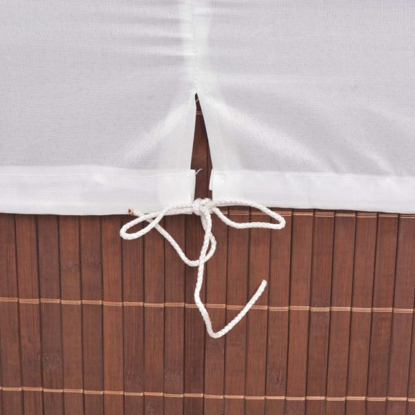 Small Rectangular Bamboo Laundry Bin - Brown