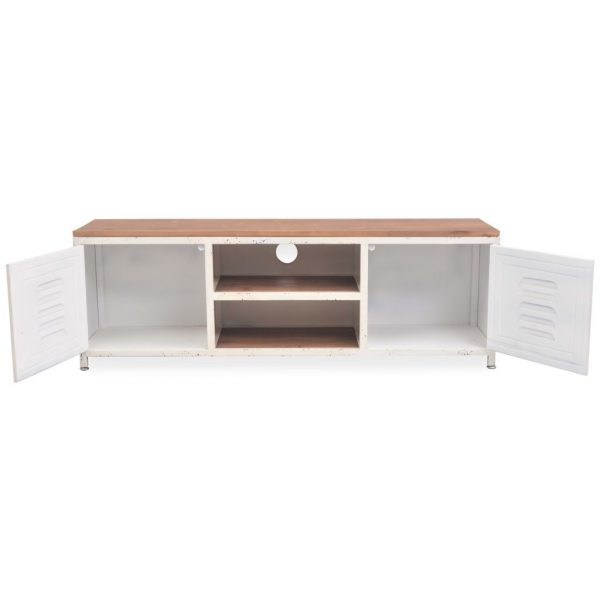 Industrial TV Cabinet - White