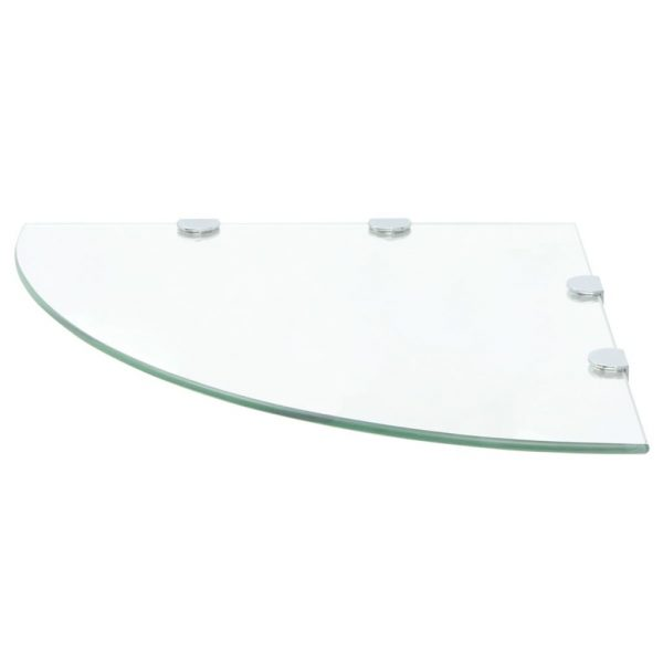 Clear Glass Corner Wall Shelf - 45cm x 45cm