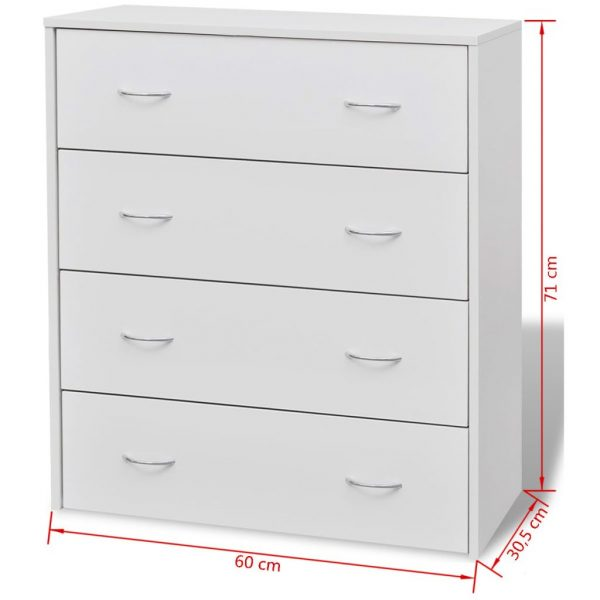 4 Drawer Sideboard Cabinet
