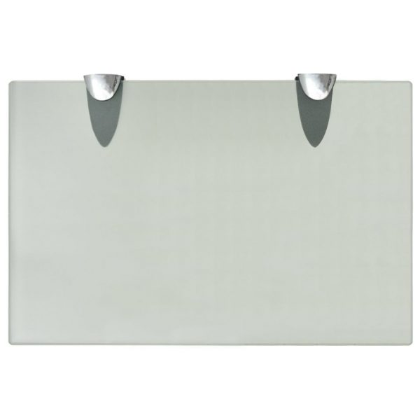 Frosted Glass Floating Wall Shelf - 30cm x 20cm