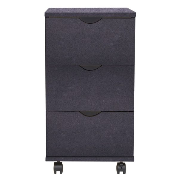 3 Drawer Office Unit - Black
