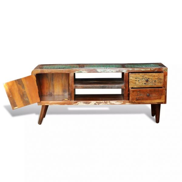 Reclaimed Solid Wood TV Cabinet