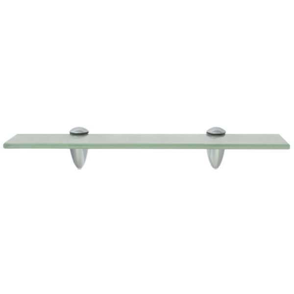 Frosted Glass Floating Wall Shelf - 40cm x 10cm