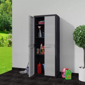 Garden Storage Cabinet - Black and Grey