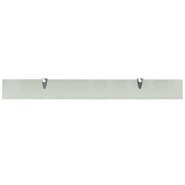 Frosted Glass Floating Wall Shelf - 90cm x10cm