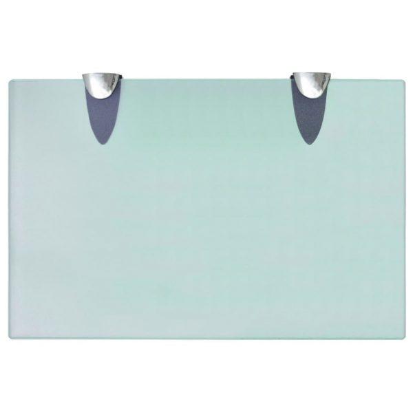 Clear Glass Floating Wall Shelf - 30cm x 20cm