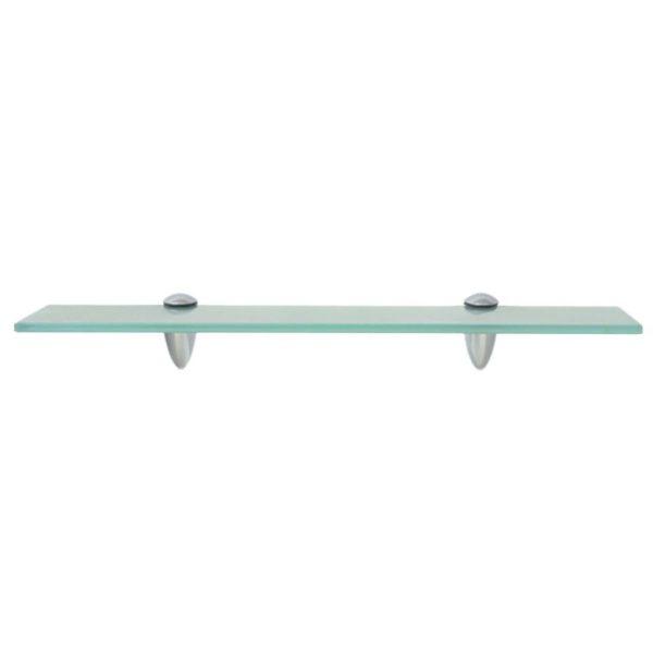 Clear Glass Floating Wall Shelf - 50cm x 20cm