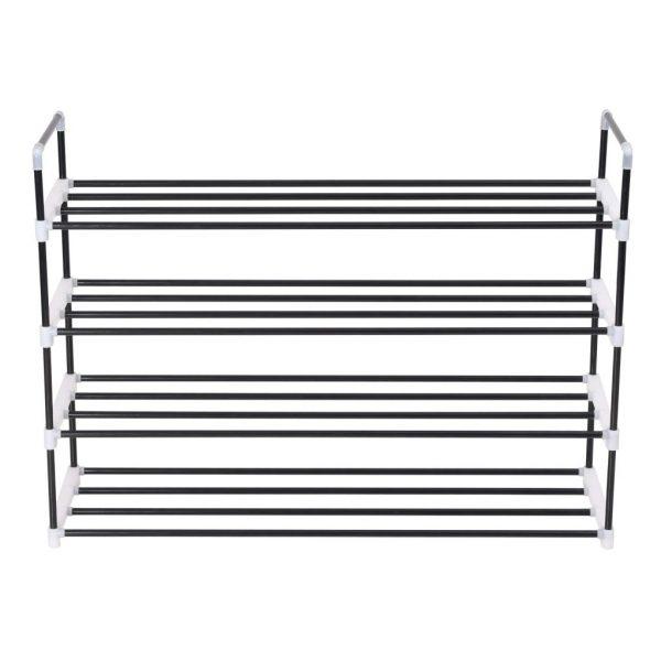 4 Shelf Shoe Rack - Black