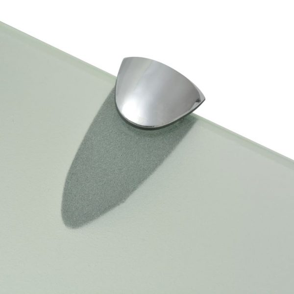 Frosted Glass Floating Wall Shelf - 100cm x 10cm