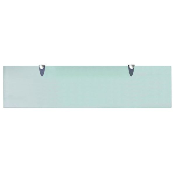 Clear Glass Floating Wall Shelf - 80cm x 20cm