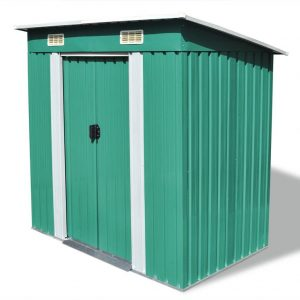 Small Metal Garden Shed - Green