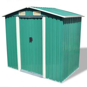 Metal Garden Shed - Green