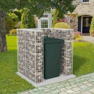 Single Wheelie Bin Gabion Surround - Steel