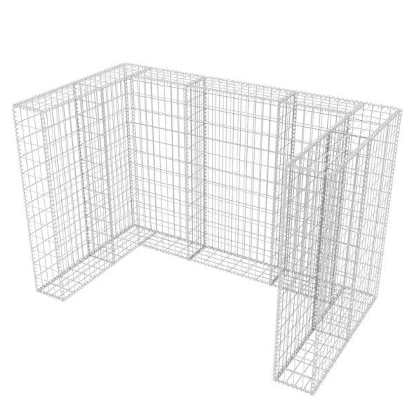 Double Wheelie Bin Gabion Surround – Steel