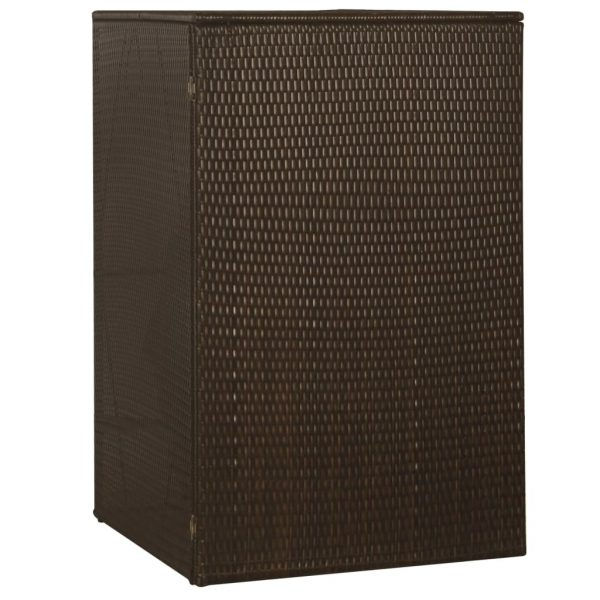 Single Wheelie Bin Shed – Brown