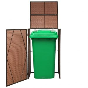 Single Wheelie Bin Shed - Brown