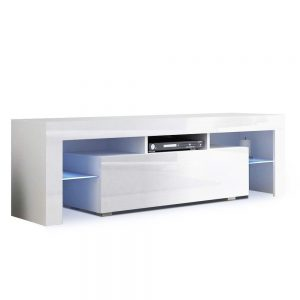 130cm LED Entertainment Unit - White